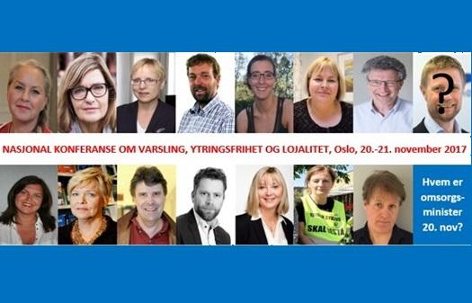 Konferanse: «Varsling, ytringsfrihet og lojalitet i helsetjenesten» 20. til 21. november